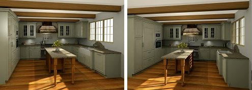 Designed in Microcad autokitchen, The kitchen design software