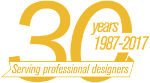 30 years serving profesional designers